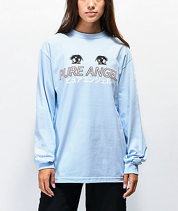 By Samii Ryan Pure Angel Blue Long Sleeve T-Shirt