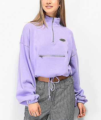 By Samii Ryan Zip It Lavender Half Zip Sweatshirt