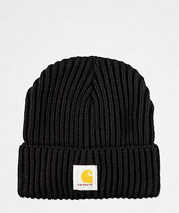 Carhartt Rib Knit Black Beanie