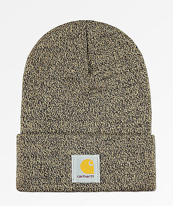 Carhartt Watch Dark Brown & Sand Stone Beanie