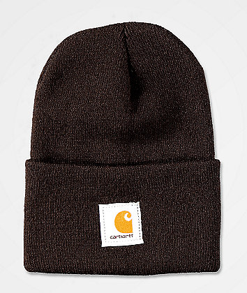 Carhartt Watch Dark Brown Beanie