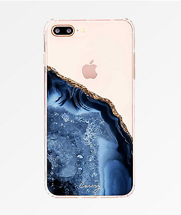 Casery Dark Blue Agate 8, 7, 6S Plus Phone Case