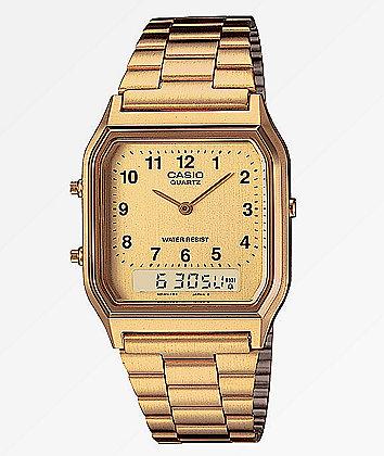 Casio AQ-230 Vintage Gold Watch