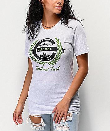 Casual Industrees NW Fresh Ash Grey T-Shirt