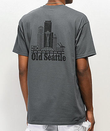 Casual Industrees Old Seattle Charcoal T-Shirt