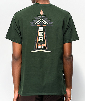 Casual Industrees PNW Seattle Native Green T-Shirt
