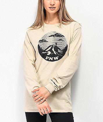 Casual Industrees PNW Tan Long Sleeve T-Shirt