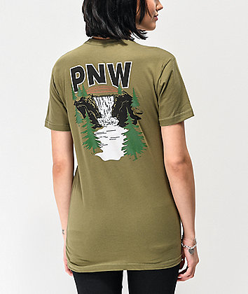Casual Industrees PNW Waterfall Green T-Shirt