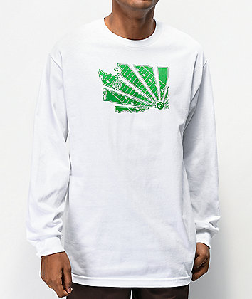 Casual Industrees WA Brah White Long Sleeve T-Shirt