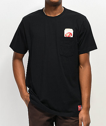 Casual Industrees x Rainier Gold Top Black Pocket T-Shirt