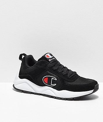 Champion 93 Eighteen Big C Classic Black & White Men's Shoes