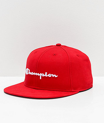 Champion BB Script Scarlet Snapback Hat