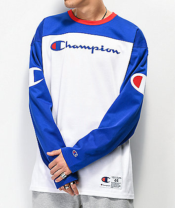 Champion Blue & White Football Jersey