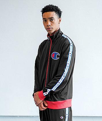 Champion Chain Stitch C Logo Black Track Jacket
