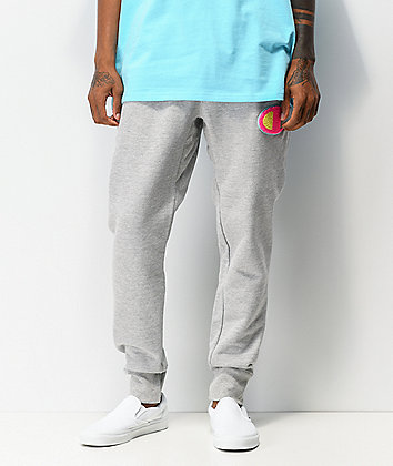 Champion Chenille Pop Grey Jogger Sweatpants