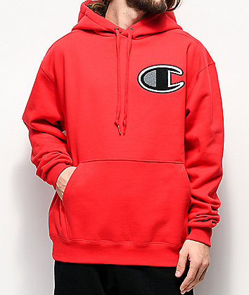 Champion Cone Red Super Fleece Hoodie