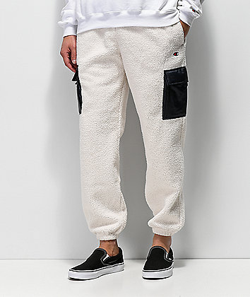 Champion Cream Sherpa Utility Sweatpants