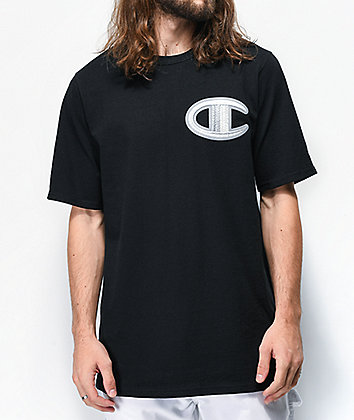 Champion Floss Stich C Black T-Shirt