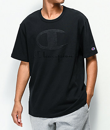 Champion Furry Logo Black T-Shirt