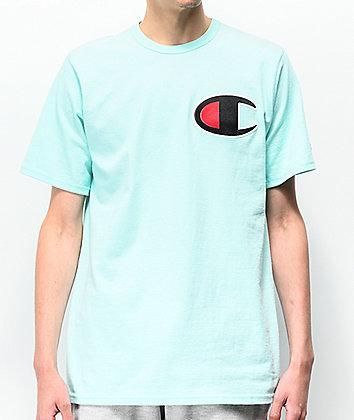 Champion Heritage Big C Mint Green T-Shirt