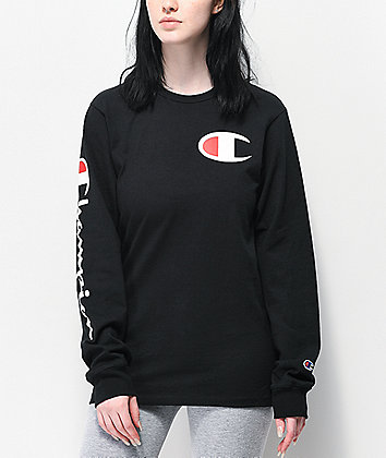 Champion Heritage Black Long Sleeve T-Shirt