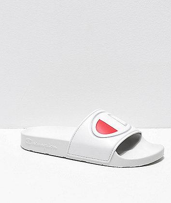 Champion IPO White Slide Sandals