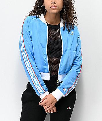 Champion Logo Tape Light Blue Track Jacket