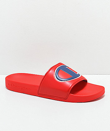 Champion Men's IPO Red Slide Sandals