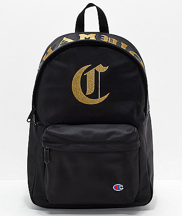 Champion Old C Black Backpack