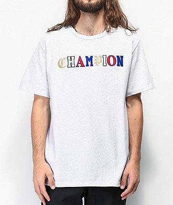 Champion Old English High School Logo Grey T-Shirt