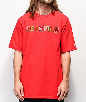 Champion Old English High School Logo Red T-Shirt