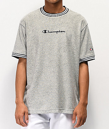 Champion Oxford Grey Terry Ringer T-Shirt