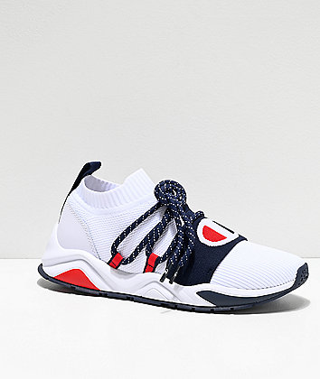 Champion Rally Pro Hype Lo White & Navy Shoes