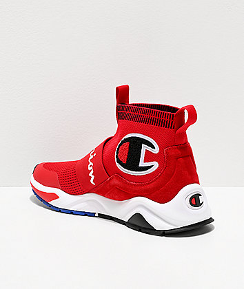 Champion Rally Pro Red & White Shoes
