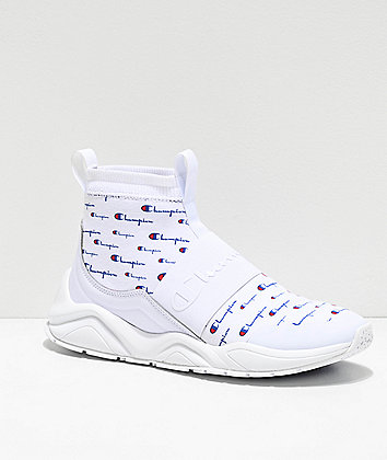 Champion Rally Pro Script White Shoes