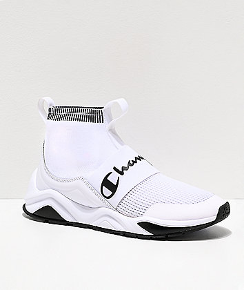 Champion Rally Pro White & Black Shoes