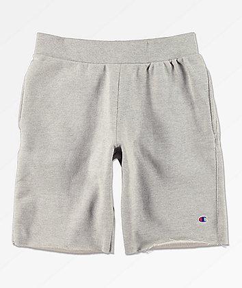 Champion Reverse Weave Cut Off Oxford Grey Sweat Shorts