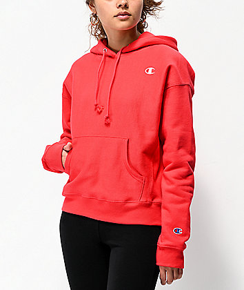 Champion Reverse Weave Red Spark Hoodie