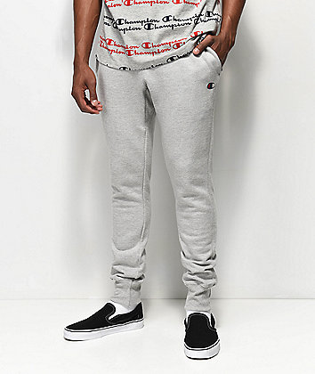 Champion Reverse Weave Small Logo Oxford Grey Sweatpants