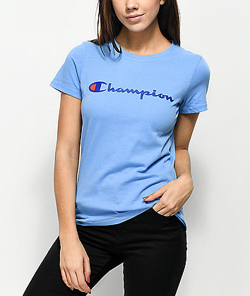 Champion Script Blue T-Shirt