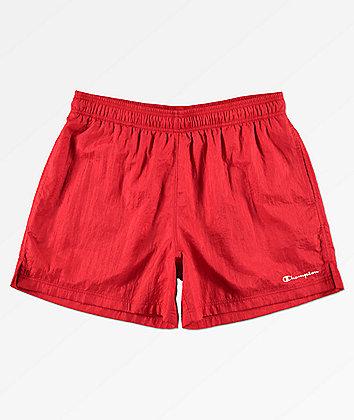 Champion Script Red Nylon Shorts