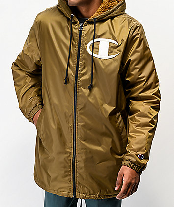 Champion Stadium Gold Puffer Jacket