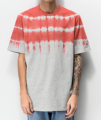 Champion Streak Dye Grey & Groovy Papaya T-Shirt