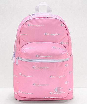 Champion Supercize Script Logo Pink Backpack