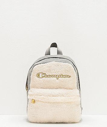 Champion Textile Chalk & Grey Mini Backpack