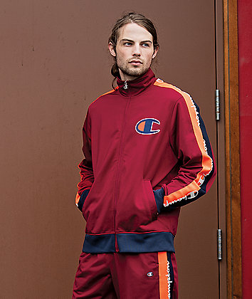 Champion Tricot Cherry Taped Track Jacket