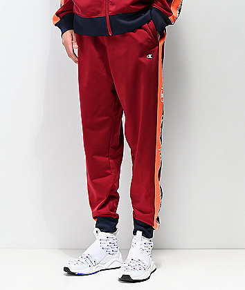 Champion Tricot Cherry Taped Track Pants