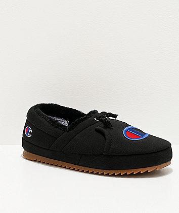 Champion University Black Slippers