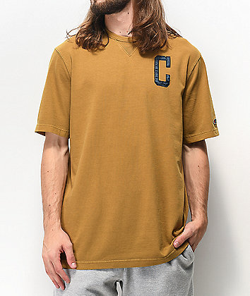 Champion Vintage Wash Gold Knit T-Shirt