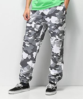 Champion White Camo Super Fleece Sweatpants